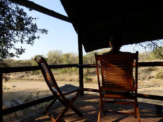 Greenfire Game Lodge: Great view from your tent