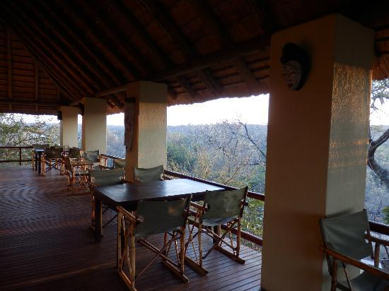 Greenfire Game Lodge : Breakfast & Dinner with awesome view