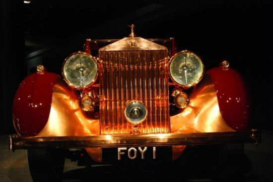 Blackhawk Museum: This 1937 Rolls-Royce Phantom III was re-crafted in 1945 using polished and brushed copper.