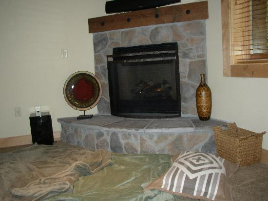 The Grand Lodges: One of two fireplaces