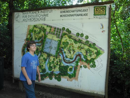 map of Leipzig Zoo Picture of Leipzig Zoo Zoologischer Garten