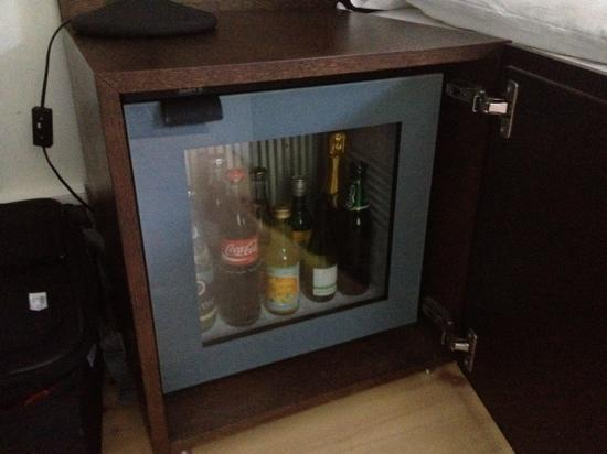 Hotel Skeppsholmen: minibar next to bed, was a little hard to find it :)