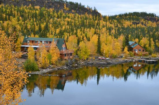 Yellow Dog Lodge: Lodge complex, 3 cabins, and main lodge