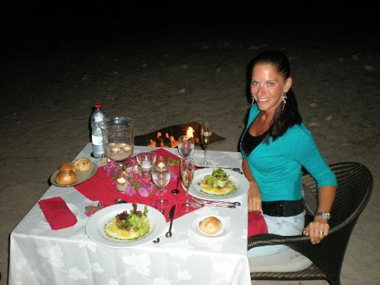 LUX* Saint Gilles: romantic dinner