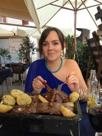 Luna Gaucha: NOT all my food! To share between two
