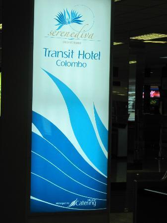 Serenediva Colombo Transit: Sign Board on Level 1