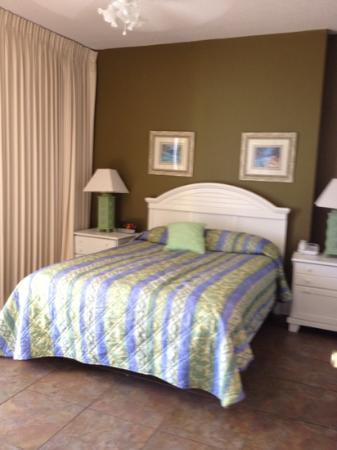 Ocean Villa Condos: master bedroom unit 1306
