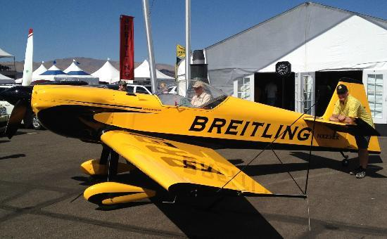 Reno Air Racing Association: Author with Breitling Stunt Plane