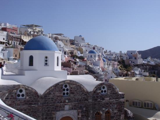 Old Oia Houses: Taken from our balcony, the money shot!