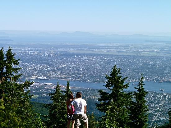Grouse Mountain Skyride: View from the top of the Skyride