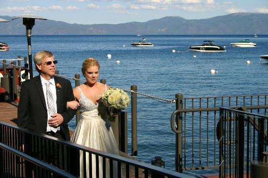 West Shore Cafe: Processional From The Boat Down The Dock