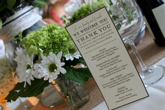 Half-Mile Farm: Wedding reception