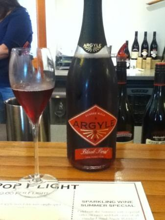 Argyle Winery: My favorite, Red bubble