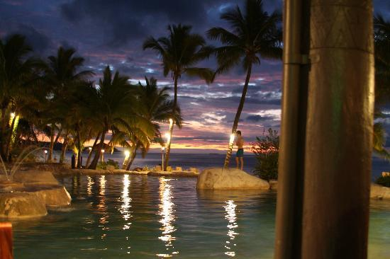 Sonaisali Island Resort Fiji: Evening sky from the Restaurant