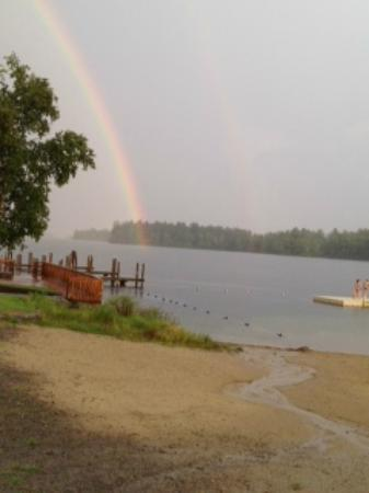 Center Harbor Inn on Lake Winnipesaukee: Double Rainbow near Center Harbor Inn