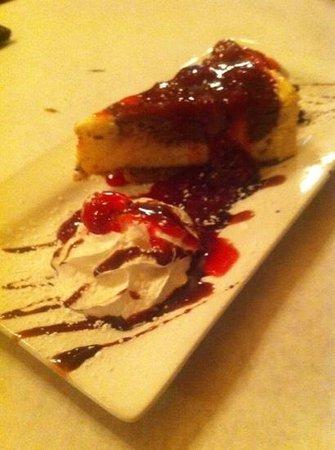 The Porterhouse: triple chocolate cheesecake