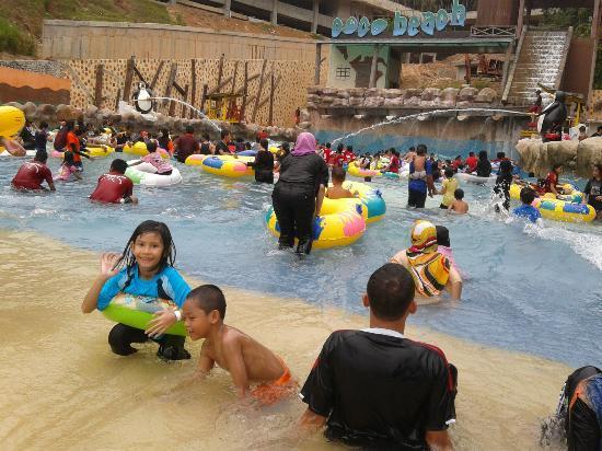 Bukit Gambang Resort City- Water Park : Coco Beach, wave ocean-like.