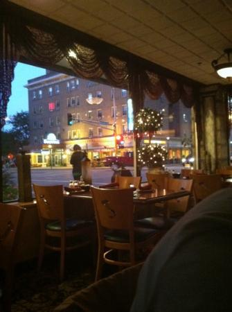 Victoria's Restaurant and Wine Bar: view from my seat. great shot of downtown