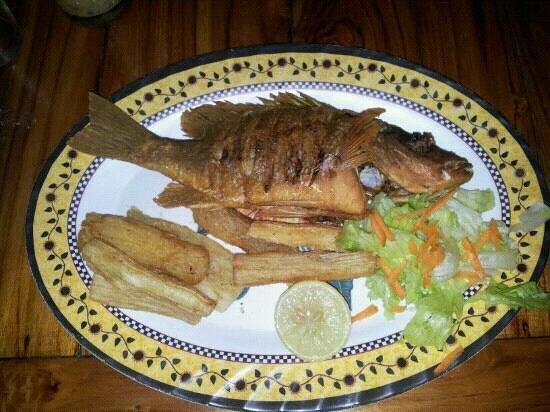 Restaurante Isla Iguana: pargo frito