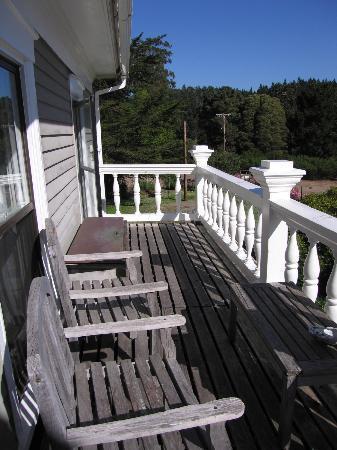 Glendeven Inn Mendocino: Bay View's balcony