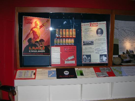 North Otago Museum : Lanes Emulsion display