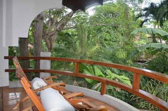 Hotel Capitan Suizo: Balcon de la chambre