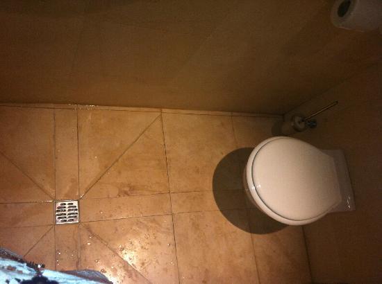 Cour des Loges: le concept douche / wc !!! douche à gauche, wc à droite
