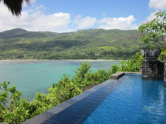 Anse Louis, Seychellene: Private swimming pool/view