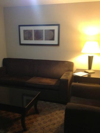 Holiday Inn Hotel & Suites Tulsa South: Living area when you first walk in