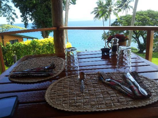 Nakia Resort & Dive: Our dining corner