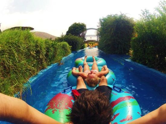 Acqua Plus Water Park: On the lazy river!