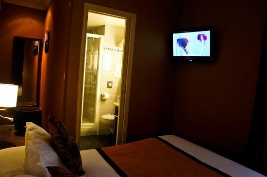 Hotel Saint-Honore : flat screen tv ,wall mounted
