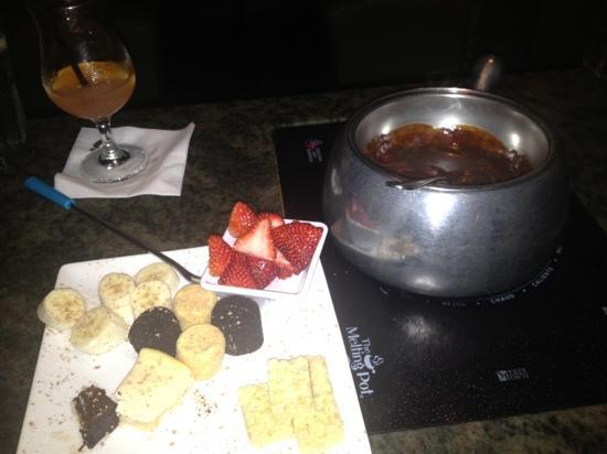 The Melting Pot: the beautiful dessert (minus a few bites!)