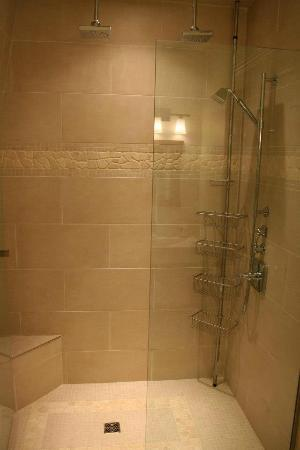 The Wellshire Bed and Breakfast: the best shower!