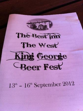 King George IV Restaurant: One of our visits was for the beer festival - could only stay an hour, but it & BBQ was brillian
