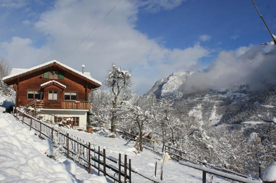Chambres d'hotes Chalet Le Rucher: Vue générale hiver