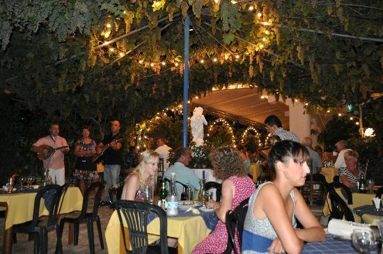 Sebastian's Family Taverna & Accommodation : Evening entertainment