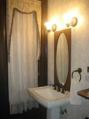 Victorian Mansion: Lincoln room bath with shower - no tub