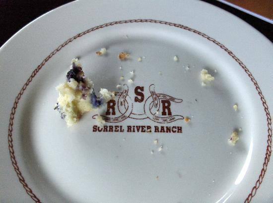 Sorrel River Ranch Resort and Spa: Our last crumb of scone :)