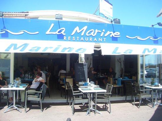La Marine du Port : entree du restaurant LA MARINE