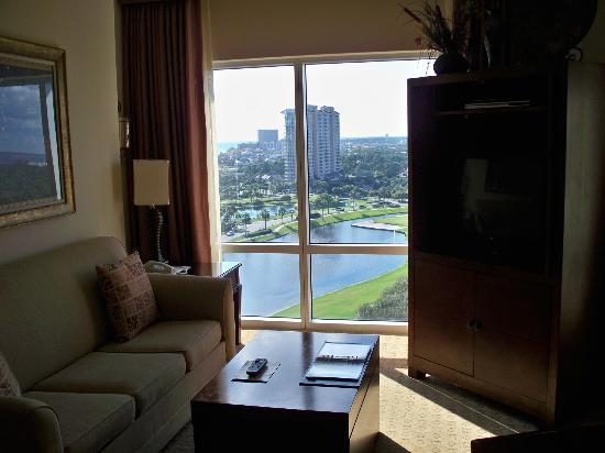 Sandestin, FL: View from living room area