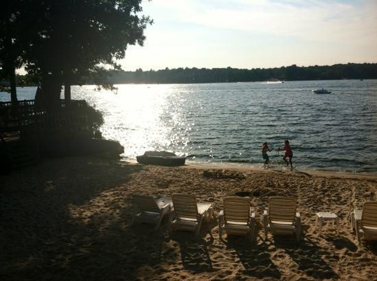 Caribbean Club Resort : The beach with the sun going down(: