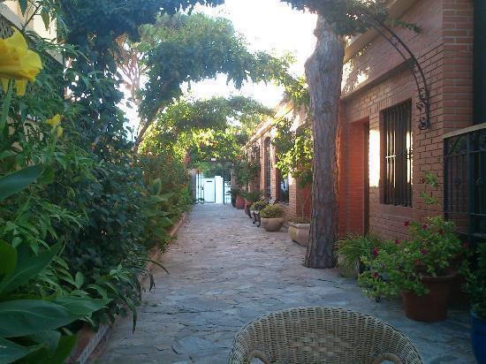 Hospederia Santiago: Vista desde el patio interior