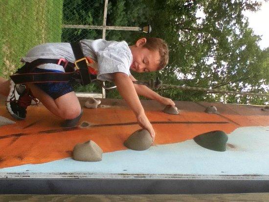 Pinegrove Family Dude Ranch: climbing wall