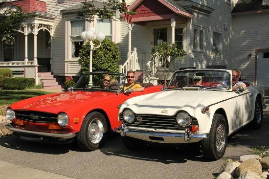 The Grand Victorian B&B : Our Triumphs Ready for the Alden Classic Sports Car Show