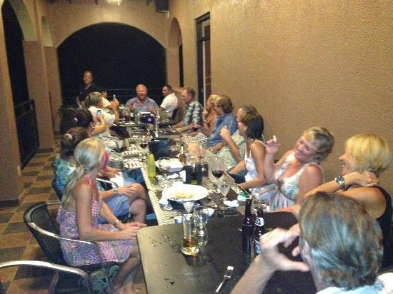 Restaurante Entre Pisco y Nazca: Patio dining for our friends Bday Bash