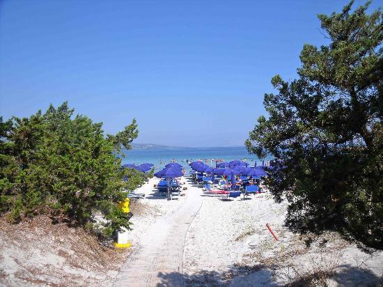 Tanaunella, Italien: Allée pour la plage