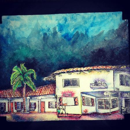 The Patriots Boutique Motel: Awesome drawing from one of our guests!