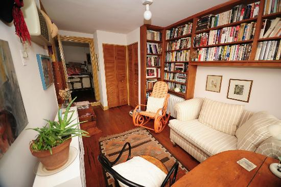 Celia's Place: Private sitting room. Chair opens to a twin bed