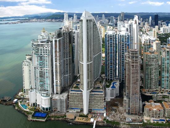 Trump Ocean Club International Hotel & Tower Panama: Trump Ocean Club views from the air